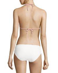 Pilyq Multicolor Mesh-trimmed Bikini Top