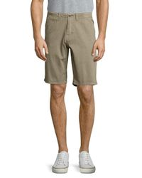 Original Paperbacks - Green Palm Textured Cotton Shorts for Men - Lyst