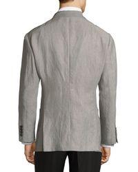 Armani Gray Notch Lapel Sportcoat for men