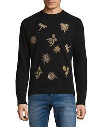 Roberto Cavalli - Black Graphic Patch Sweatshirt for Men - Lyst