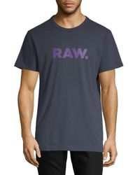 G-Star RAW Blue Xenoli Raw Tee for men