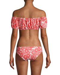 Lisa Marie Fernandez Red Two-piece Leandra Floral Bikini