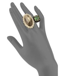 Alexis Bittar - Metallic Custom Gemstone Cocktail Ring - Lyst