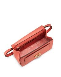Longchamp - Pink Le Pliage-heritage Leather Foldover Satchel - Lyst