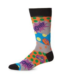 Bugatchi Multicolored Graphic Socks for men