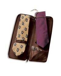 Royce Brown Genuine Leather Travel Tie Carrying Case for men