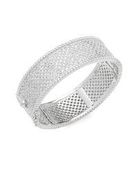Saks Fifth Avenue - Metallic Cubic Zirconia & Silver Bracelet - Lyst