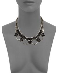 DANNIJO - Black Viktor Mini Bib Necklacegoldtone - Lyst