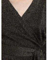 Diane von Furstenberg Black Fosette Wrap Sweaterdress