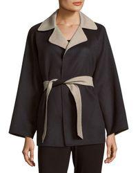 Max Mara Black Kaya Wool-blend Notch-collar Coat