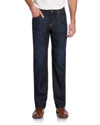 7 For All Mankind Blue Carsen Straight-leg Jeans for men
