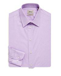 Armani - Purple Modern-fit Cotton Dress Shirt for Men - Lyst