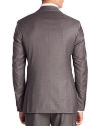 Theory Brown Malcolm Slim-fit Pinstriped Suit Jacket for men