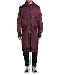 Public School Purple Clemente Hybrid Hooded Bomber Jacket for men