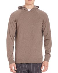 Brunello Cucinelli - Multicolor Long Sleeve Cashmere Hoodie for Men - Lyst