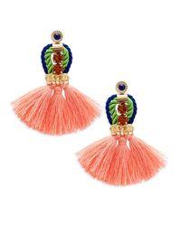 Saks Fifth Avenue - Pink Tassel Fringe Earrings - Lyst