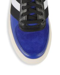 Bally Blue Hewie Leather High-top Sneakers for men