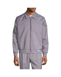 Ovadia And Sons Purple Mcgregor Print Point-collar Bomber Jacket for men