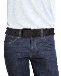 John Varvatos - Black Knotted Leather Belt for Men - Lyst