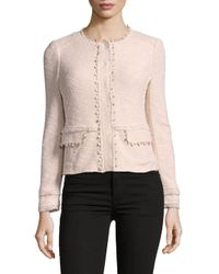 Rebecca Taylor Multicolor Long-sleeve Textured Jacket