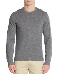 Saks Fifth Avenue - Gray Cashmere Crewneck Sweater for Men - Lyst