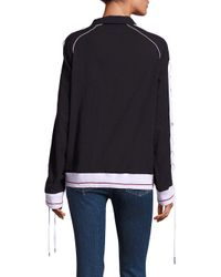 Koza - Black Track Cotton Sweatshirt - Lyst