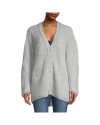 Rag & Bone Gray Deep V-neck Knitted Cardigan