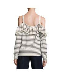 Joie Multicolor Delbin Striped Cold-shoulder Sweater