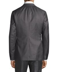 Theory Gray Slim-fit Dobby Wool Suiting Blazer for men