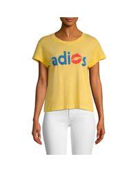Wildfox Yellow Adios T-shirt