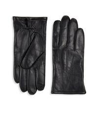 Saks Fifth Avenue - Black Leather Gloves for Men - Lyst