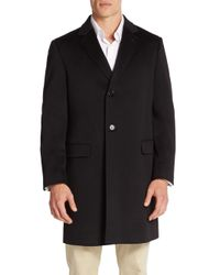 Saks Fifth Avenue - Black Classic-fit Wool Coat for Men - Lyst