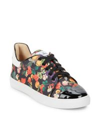 Isa Tapia Multicolor Printed Lace-up Sneakers