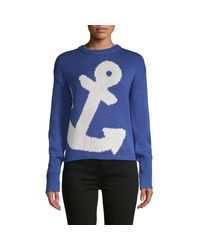 525 America Blue Anchor Graphic Cotton Sweater