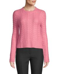 Valentino Pink Cable-knit Cashmere Sweater