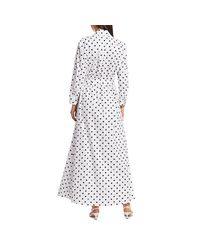 Staud White Daisy Polka Dot Shirtdress