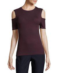 Joe's - Purple Rib-knit Turtleneck Top - Lyst