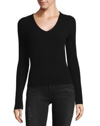 Naked Cashmere Black V-neck Fitted Cashmere Sweater