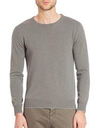 Eleventy - White Washed Cashmere Raglan Pullover for Men - Lyst