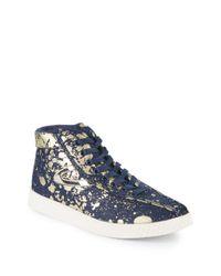 Tretorn Blue Nylitehi Metallic High-top Sneakers for men