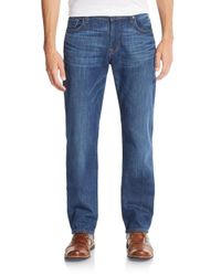 7 For All Mankind - Blue Standard Straight-leg Jeans for Men - Lyst