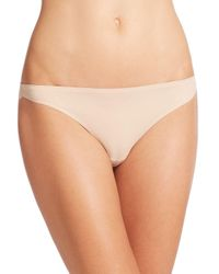 Stella McCartney Natural Smooth & Lace Thong