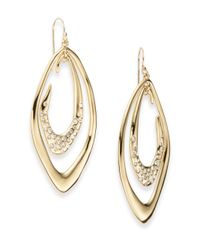 Alexis Bittar Metallic Miss Havisham Liquid Crystal Orbiting Link Drop Earrings