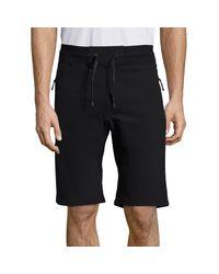 Madison Supply Black Solid Drawstring Shorts for men