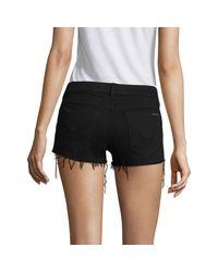 Hudson Black Kenzie Distressed Denim Shorts