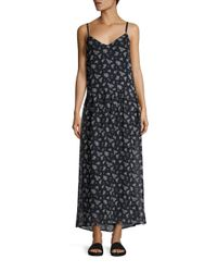 Vince Multicolor Calico Floral-print Silk Maxi Dress