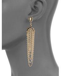 Panacea - Metallic Elegant Antique Drop Earrings - Lyst