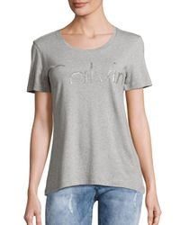 Calvin Klein Jeans - Gray Short Sleeve Roundneck Tee - Lyst
