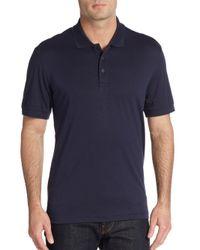 Saks Fifth Avenue - Blue Pima Cotton Polo Shirt for Men - Lyst