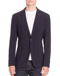 Strellson - Blue Front Button Jacket for Men - Lyst